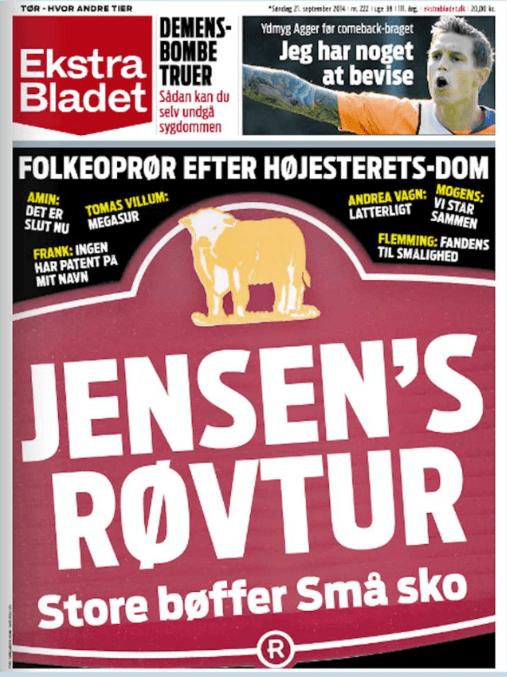 Jensens Bøfhus shitstorm